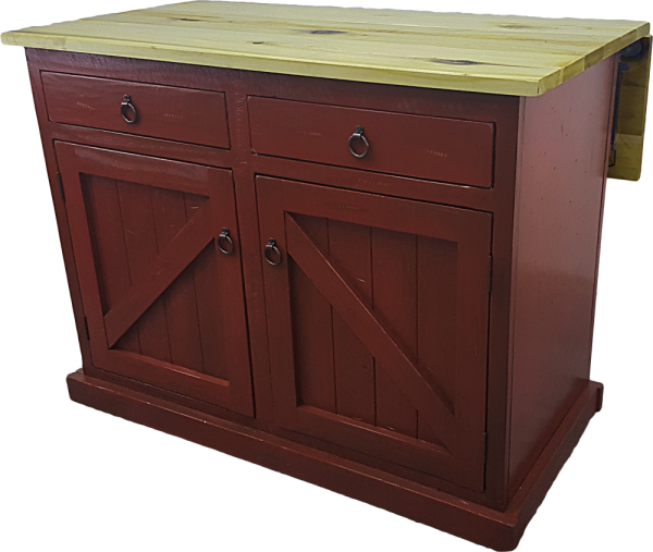 Rustic Kitchen Island W Flip Up Top Howard Hill Furniture